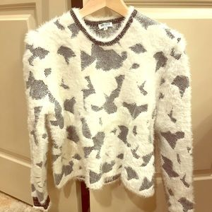 ✨like new✨ Kenzo blue/white cropped knit sweater